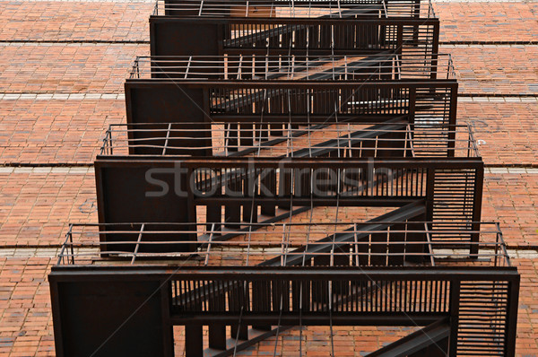 Abstract fire escape background texture  Stock photo © inxti