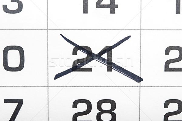 Kalender zwarte aantal uit papier achtergrond Stockfoto © inxti
