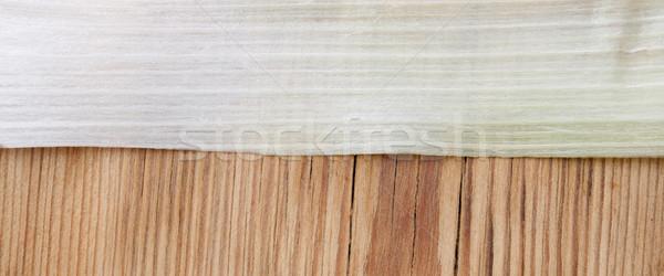 Zöld levél póréhagyma makró eszik fehér zöldség Stock fotó © inxti