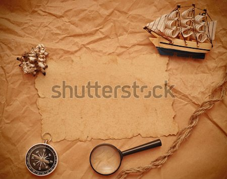 magnifying glass and rope  Stock photo © inxti