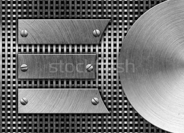 metal template background Stock photo © inxti
