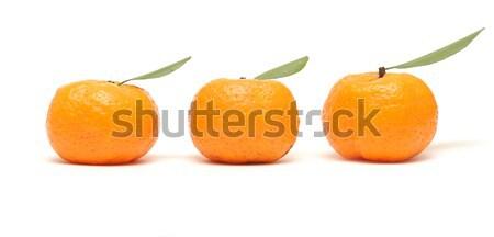 Mandarino foglie bianco tre maturo alimentare Foto d'archivio © inxti