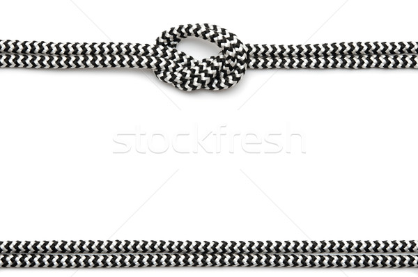 frame made from rope isolated on white  Stock photo © inxti
