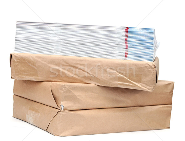 pile of magazines on white  Stock photo © inxti