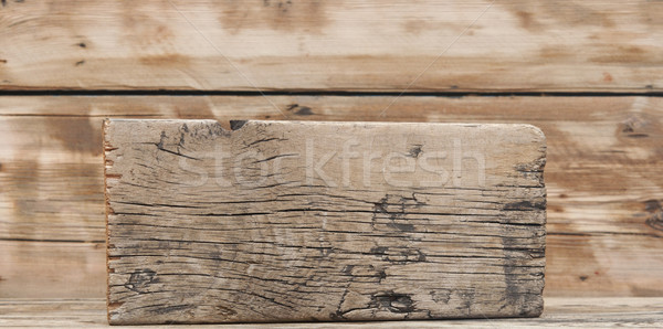 empty wooden sign on old wooden table Stock photo © inxti