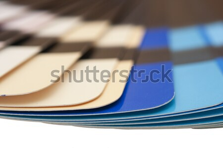 Color guide spectrum swatch samples rainbow on white background  Stock photo © inxti