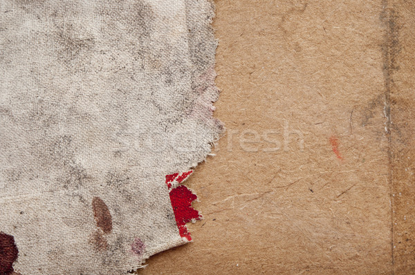 Texture of the burlap and old wood  Stock photo © inxti
