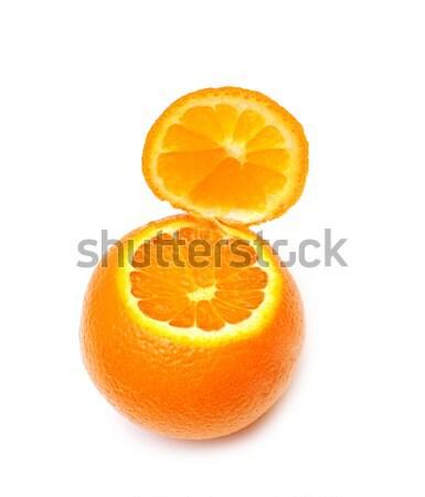 Maturo mandarino isolato bianco arancione Foto d'archivio © inxti
