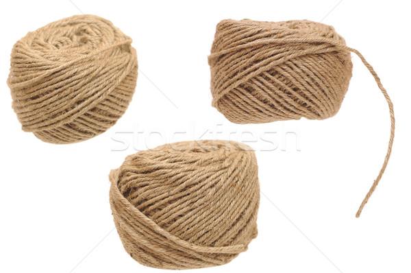 set hemp cord roll isolated on white background  Stock photo © inxti
