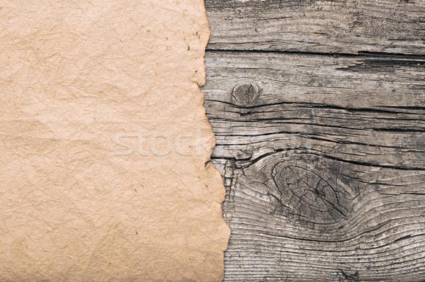 Régi papír keret fa könyv keret asztal Stock fotó © inxti