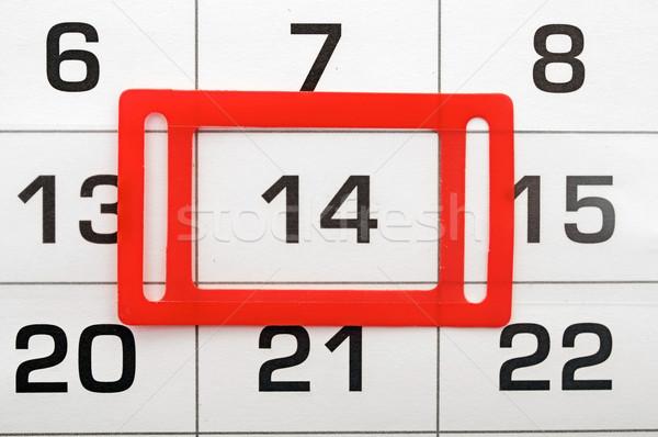 Pagina kalender papier boek Rood vakantie Stockfoto © inxti