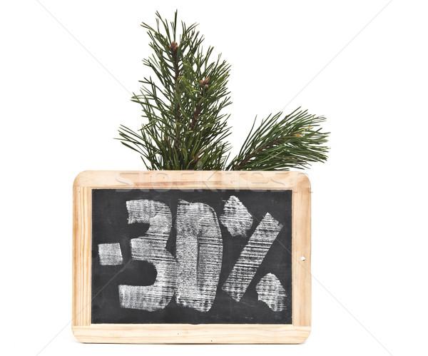 Otuz yüzde yazılı tahta okul çerçeve Stok fotoğraf © inxti