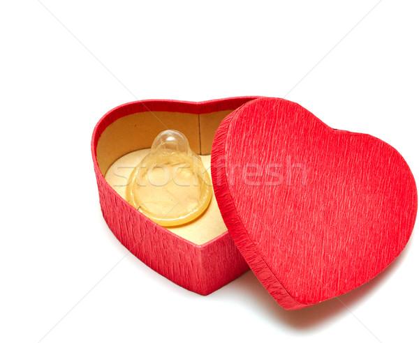 Gumióvszer doboz ajándékok fehér orvosi piros Stock fotó © inxti