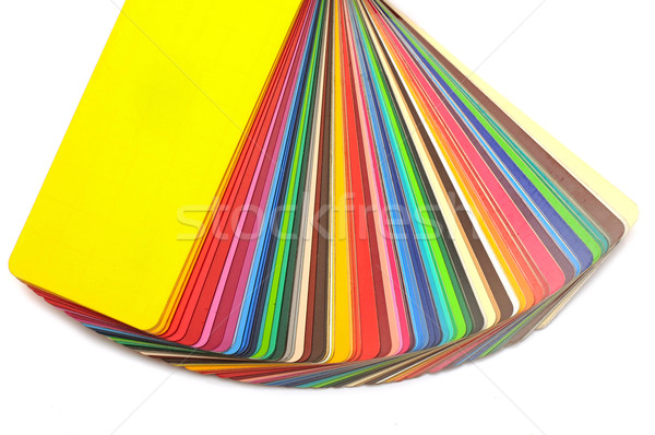 Stock photo: colorful color guide on white background with copy space