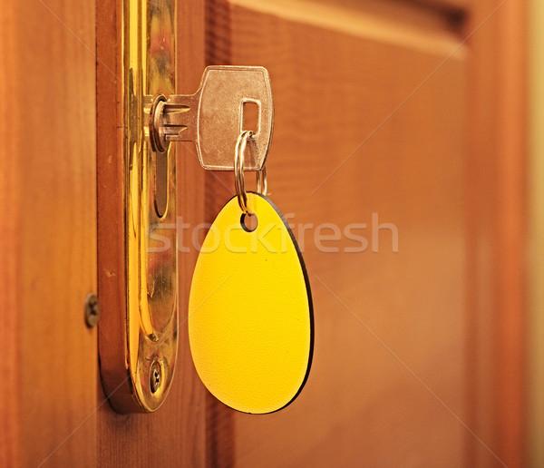 Anahtar anahtar deliği etiket ofis ev dizayn Stok fotoğraf © inxti