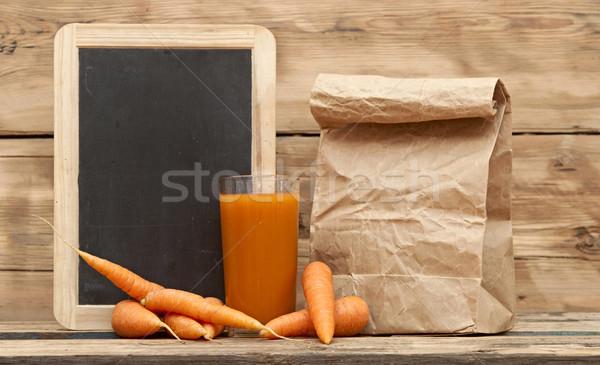 健康食品 人参 ジュース 紙袋 木製 紙 ストックフォト © inxti