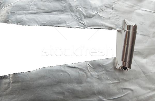 Papír fehér látható textúra terv fém Stock fotó © inxti