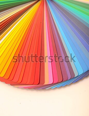 colorful designer swatch palette guide chart spectrum Stock photo © inxti