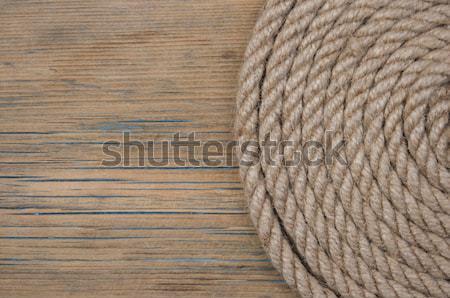Toile de jute toile vintage bois bois sac Photo stock © inxti