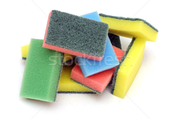 colorful sponge on the white background Stock photo © inxti