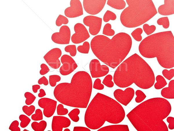 Rouge coeurs blanche espace de copie amour design Photo stock © inxti