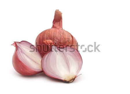 Stock photo: Red sliced onion isolated on white background