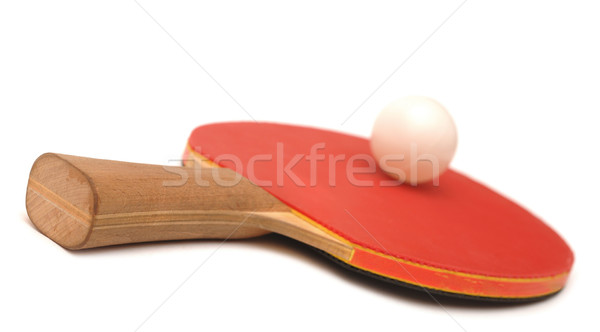 Table tennis racket and ball Stock photo © inxti
