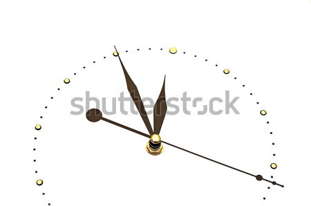 clock face isolated on white background Stock photo © inxti