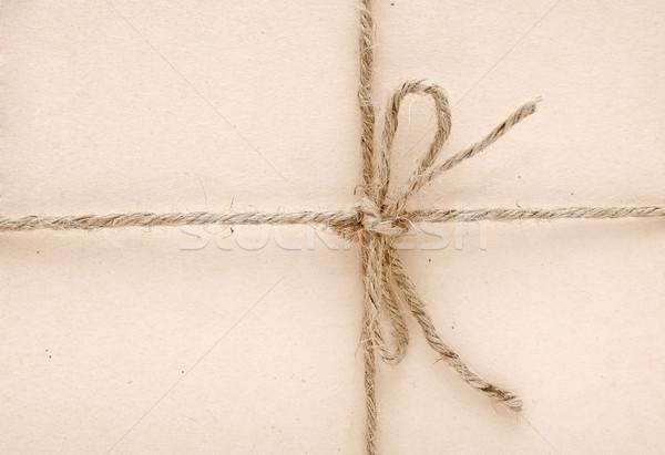 String arco carta marrone texture sfondo spazio Foto d'archivio © inxti