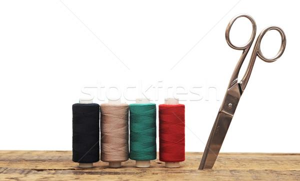 ツール 裁縫 カラフル はさみ 木製 テクスチャ ストックフォト © inxti