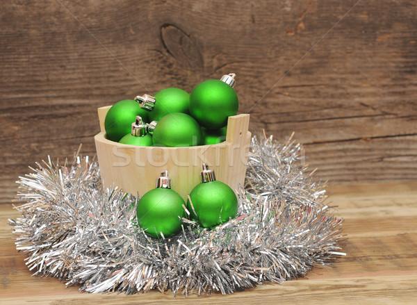 Noël décoration bois planche arbre bois Photo stock © inxti