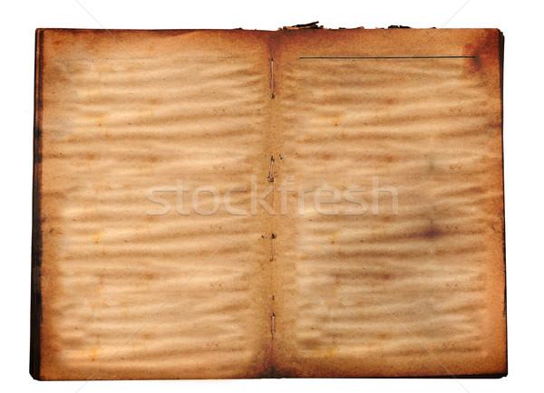 Abierto libro viejo aislado blanco libro diseno Foto stock © inxti