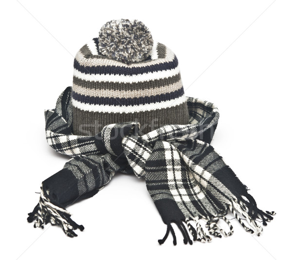 warm woolen knitted winter hat and scarf  Stock photo © inxti