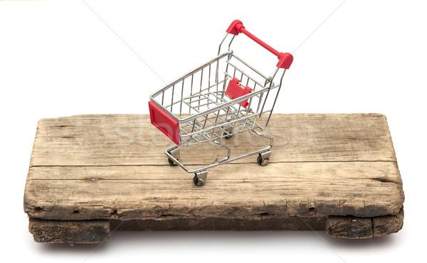 metal shopping trolley Stock photo © inxti