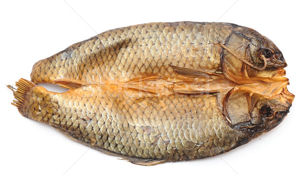smoked fish on a white background Stock photo © inxti