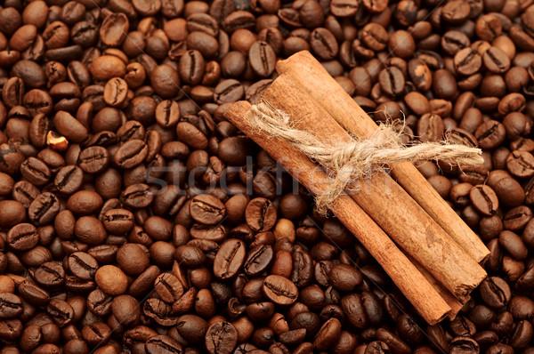 handful aromatic coffee beans with cinnamon Stock photo © inxti