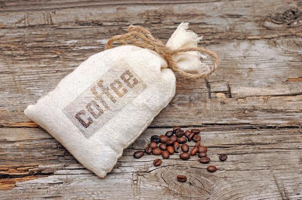 холст сумку кофе деревенский таблице Сток-фото © inxti