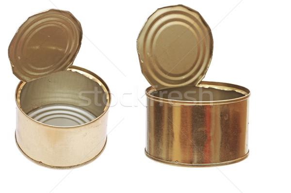 Zdjęcia stock: Pusty · żywności · metal · puszka · odizolowany