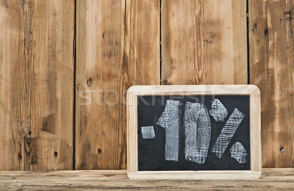 Ten percent written on blackboard  Stock photo © inxti