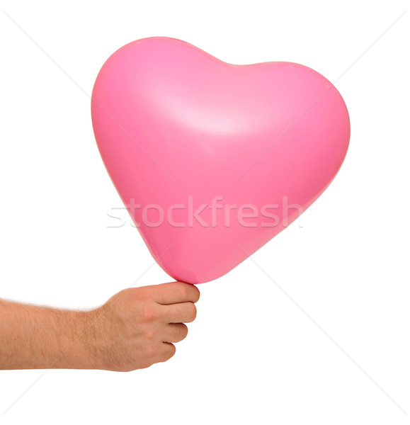 red balloon in hand Stock photo © inxti