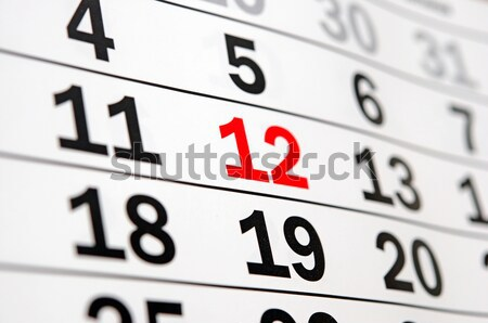 page of calendar showing date of today Stock photo © inxti