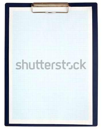 Schowek niebieski wykres papieru biały Zdjęcia stock © inxti
