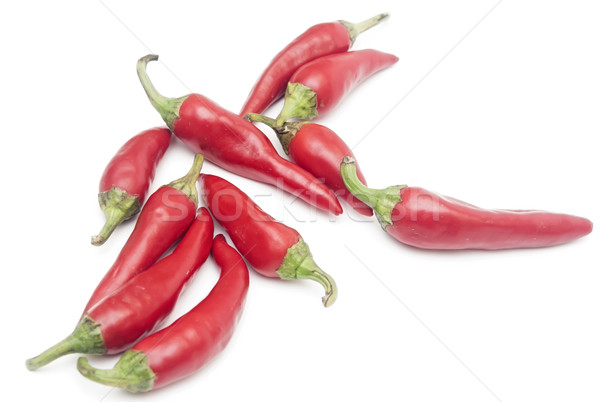 Caliente rojo chile chile blanco alimentos Foto stock © inxti