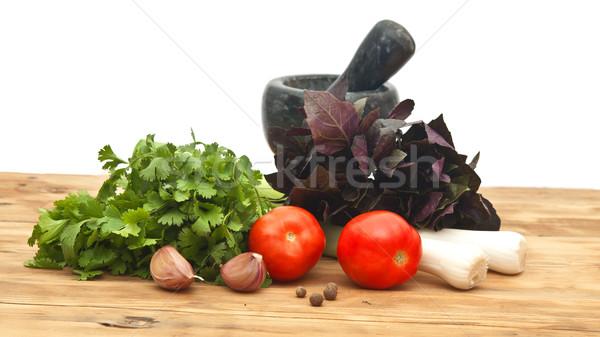 Gasztronómiai étel természet egészség háttér konyha Stock fotó © inxti