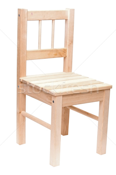 Stock photo: wood chair isolated on white