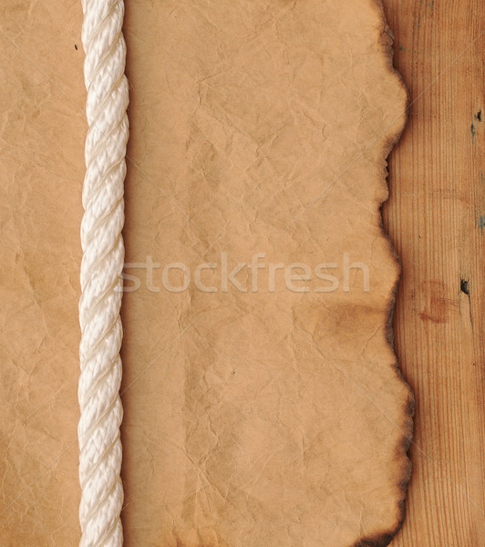 old paper with rope border  Stock photo © inxti