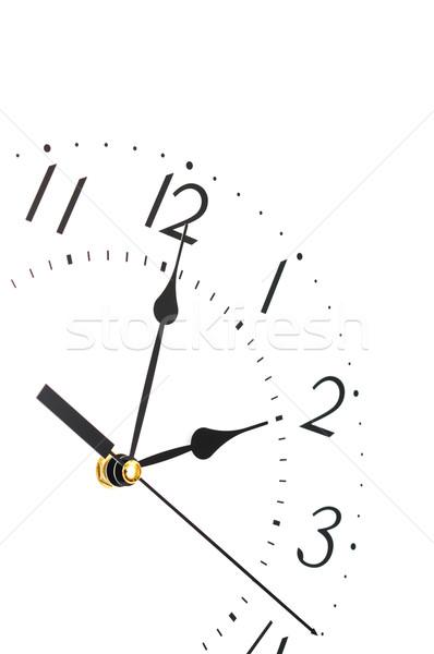 Closeup of clock face.  Stock photo © inxti