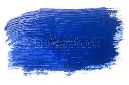 blue stroke of the paint brush isolated on white Stock photo © inxti