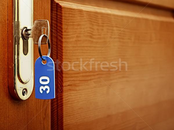 ドア 木材 キー 前方後円墳 ラベル オフィス ストックフォト © inxti