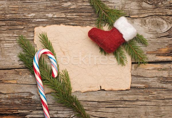 Navidad pergamino arranque textura fondo marco Foto stock © inxti